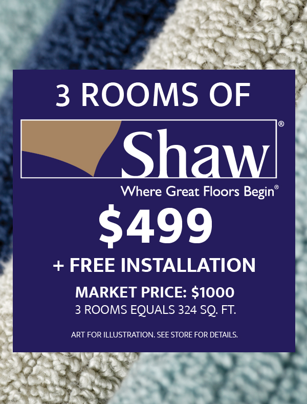 3 Rooms of Shaw $499