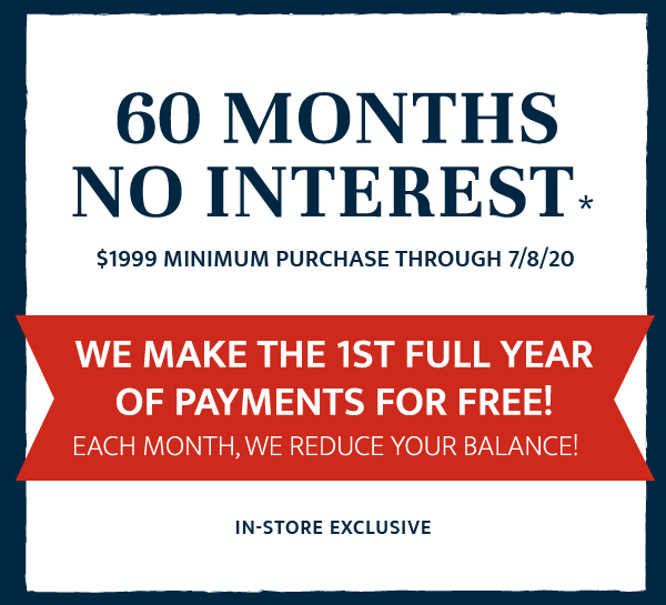 60 Months no interest