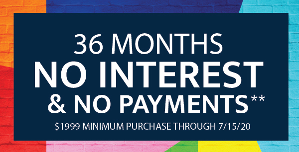 No Interest for 36 Months*