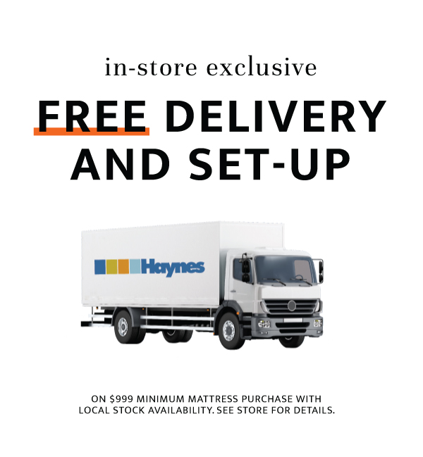 Free Delivery and Set-up