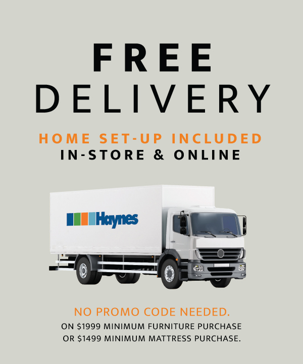 free delivery home set-up included in-store and online