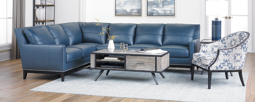 Leather Track Arm Sectional $2999
