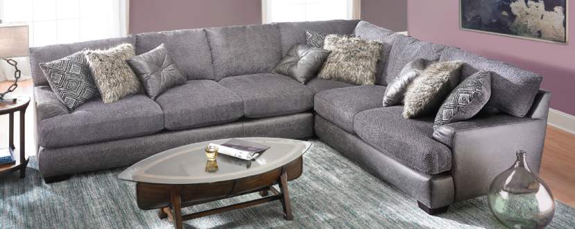 Two-Toned Textured Sectional $1499